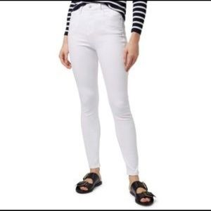 Top shop high rise Jamie jeans white